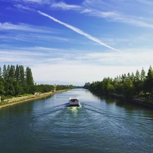 富岩運河の遊覧船