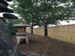 和の庭を演出する竹垣工事 富山市2