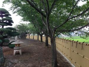 和の庭を演出する竹垣工事 富山市5