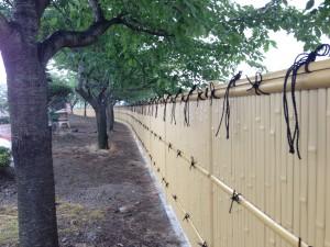 和の庭を演出する竹垣工事 富山市3
