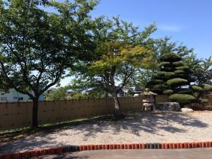 和の庭を演出する竹垣工事 富山市6
