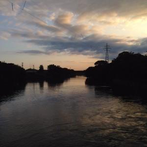 朝がきれいな富岩運河