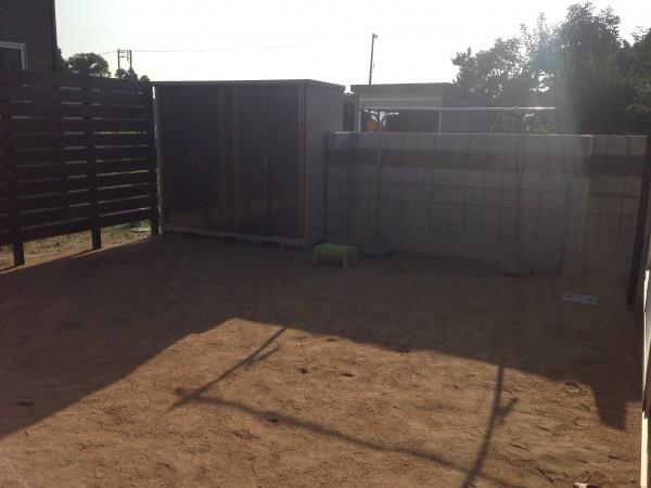 プライベート庭空間を板塀フェンスやブロックを使って 富山市 1