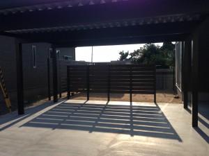 プライベート庭空間を板塀フェンスやブロックを使って 富山市 2