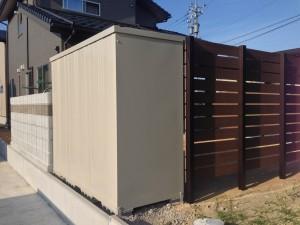 プライベート庭空間を板塀フェンスやブロックを使って 富山市 3
