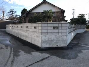 ブロック積み4段+山笠