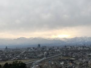 立山連峰20171224