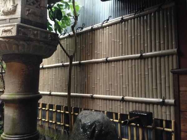 趣のある竹垣工事 富山市1