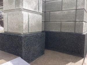 刷毛引きのラインがきれいなブロック塀へ4