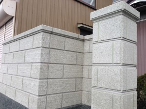 刷毛引きのラインがきれいなブロック塀へ6