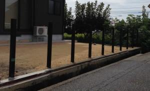 フェンスの基礎を作る