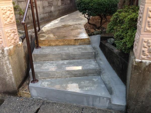除雪の負担を軽く 階段ヒーター工事 富山4