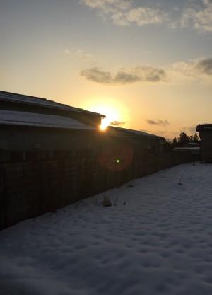 会社から見える景色 夕陽