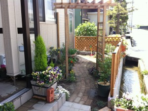 かわいいお庭の工事のその後 富山市