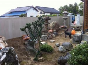 落ち着いた和風塀に 富山6