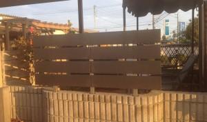 富山市 板塀フェンス取付