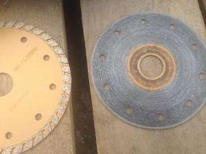 ブロックの加工に使う刃