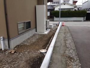 基礎コンクリートの工事