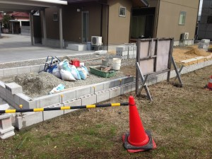 富山市のブロック積み