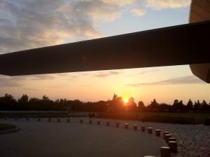 白浜でみた夕陽