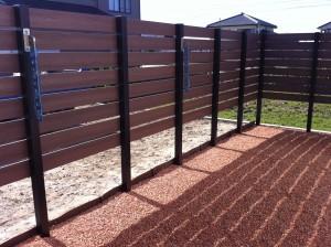 目隠し板塀フェンスと駐車場コンクリート工事 富山6