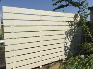 アイボリー色の板塀 ガーデニングフェンス 富山市
