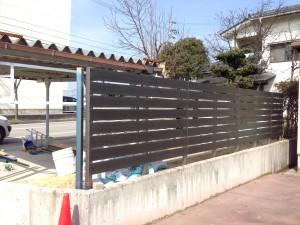 樹脂製の板塀フェンス  富山5