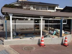 樹脂製の板塀フェンス  富山6