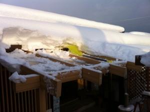 木調テラス耐雪0.5m雪下ろし