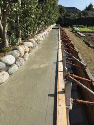 補強コンクリート 石垣
