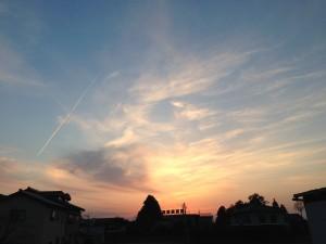 今週の夕陽 富山