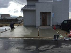 駐車場コンクリート打設