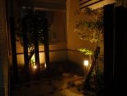 坪庭にLED照明 富山市