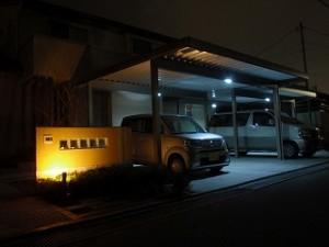 LEDの庭灯り 富山市5
