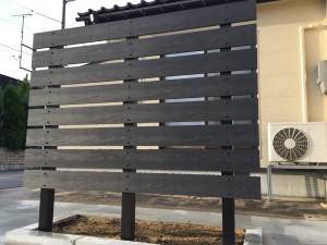 板塀貼り 樹脂板塀