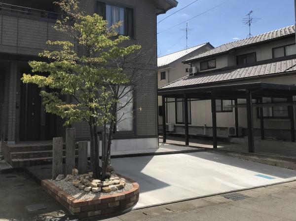 駐車場拡張と玄関前のリメイク1