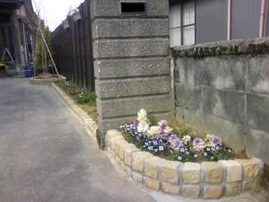 花壇・竹垣工事 富山市 4