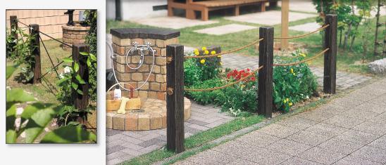 ガーデンフェンス リアルウッドランバー 日本興業1