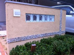 塗り壁と樹脂洗い出しのアプローチ 富山市2