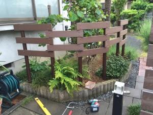 ガーデンフェンスとパーゴラ 富山市3
