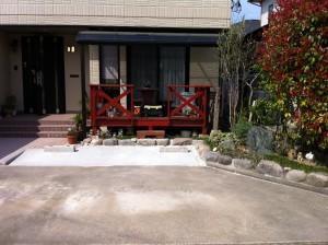 車をもう一台増やす駐車スペース拡張工事 富山市4