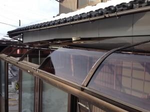 テラス囲い屋根張替補強