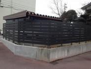 樹脂製の板塀フェンス  富山