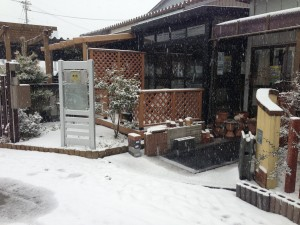 融雪マットのあるエクステリア展示場