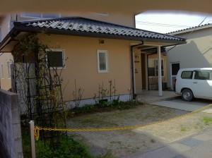 レンガと洗い出し 駐車場工事 富山市5