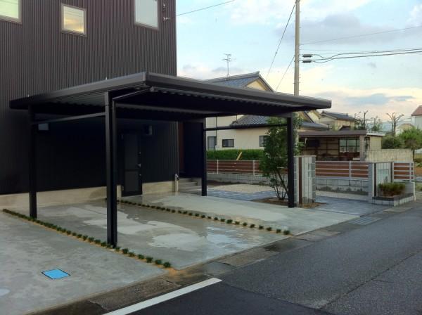 シンプルモダンな外構工事 富山市2