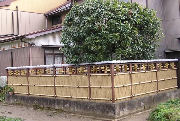エバー15型のデザイン竹垣 エクステリア 富山7
