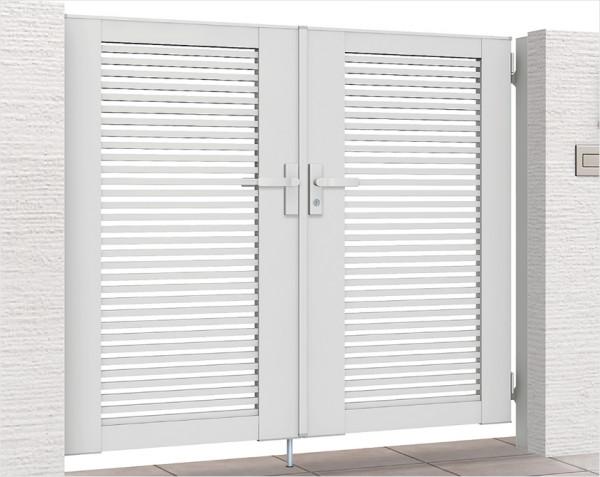 ライシス門扉1型 (細めの横桟) LIXIL1