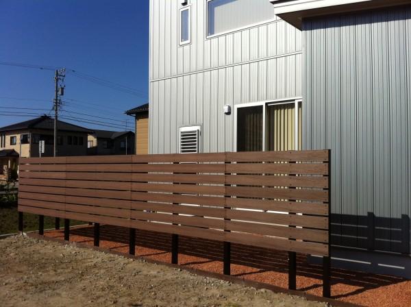 目隠し板塀フェンスと駐車場コンクリート工事 富山4