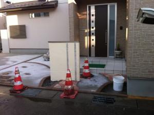 雨がやんでほしいのです。。。富山市外構工事